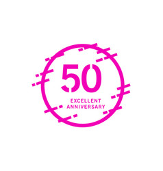 50 years excellent anniversary template design vector