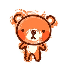 A bear is standing vector image