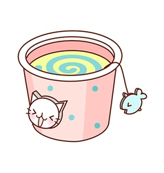 A cup of drink vector