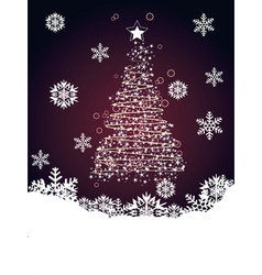 Abstract Christmas tree2 vector image vector image