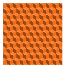 abstract seamless background 3d cubes vector image
