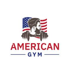 american gym logo inspiration men fitness design vector image