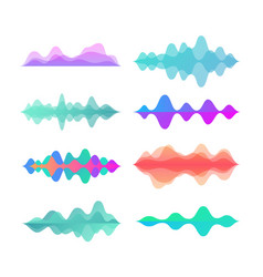 Amplitude color motion waves abstract electronic vector