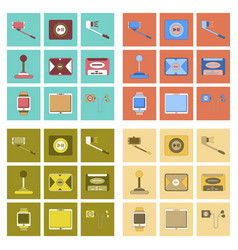 Assembly flat icon smartphone selfie stick game vector
