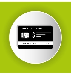 Bank credit card icon vector