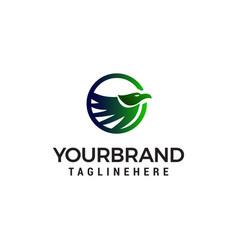 bird abstract logo design concept template vector image