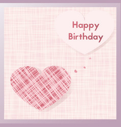 Birth gift greeting card postcard textiles in vector