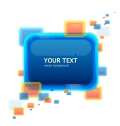 Blue speech template tor your text vector