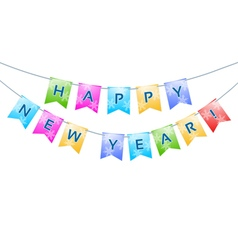 bunting with Happy New Year words vector image