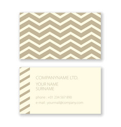 business card with geometric abstract wave pattern vector image