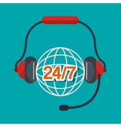 call center design vector image