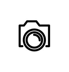 camera outline icon vector image