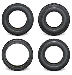 Car tires side view vector