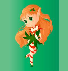 Christmas elf vector