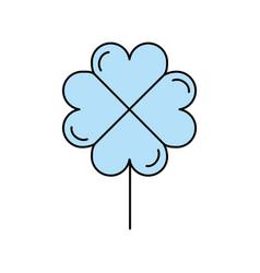 Clover poker symbol icon vector