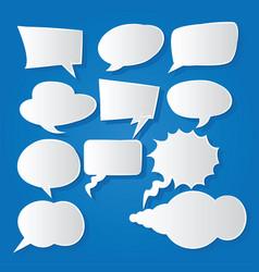 Comic bubble speech balloons speech cartoon 211 vector