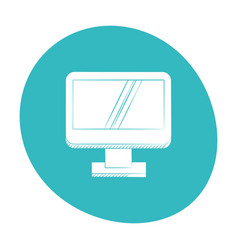 computer screen device icon color vector image