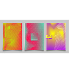 cover design template set abstract fluorescent vector image