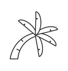 Curve palm tree icon thin line on white background vector