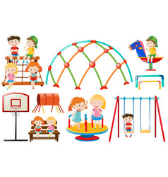 different play stations in the playground vector image