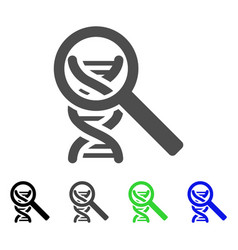 dna analysis icon vector image