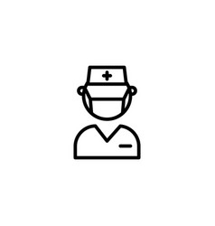 doctor specialist stomatolog dentist care icon in vector image