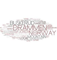 Drammen word cloud concept vector