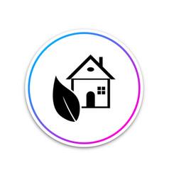 eco house icon isolated on white background vector image