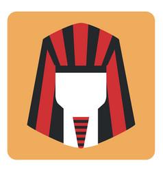 egyptian pharaoh on a white background vector image