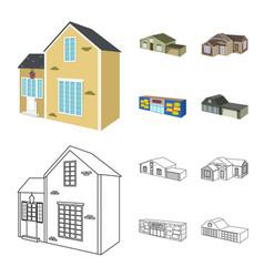facade and housing logo vector image