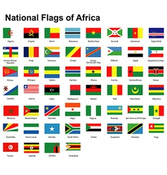 Flags africa vector