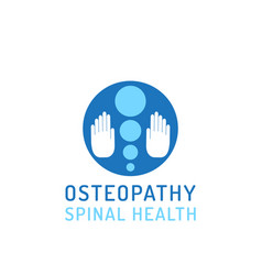 flat logo osteopathy vector image
