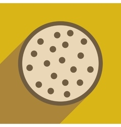 Flat web icon with long shadow cookie vector image