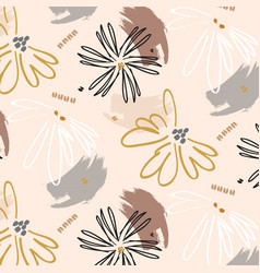 Flower power cute print surface floral botanical vector