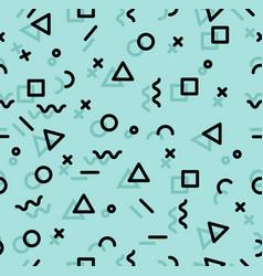 geometric memphis style sameless pattern vector image