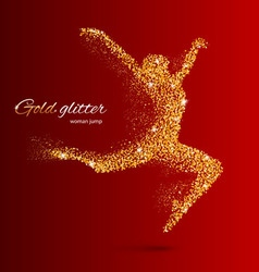 Glitter Jump woman 03 z Runing man 02 05 vector