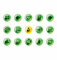 green website and internet icons vector image