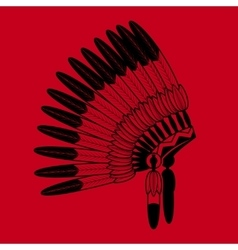 Indian feathers war bonnet vector image