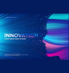 innovation theme disintegration effect vector image