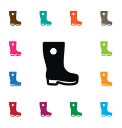 Isolated gumboots icon galoshes element vector