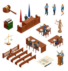 Isometric law and justice symbols of legal vector