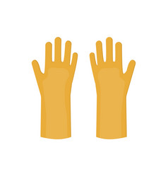 latex gloves cartoon glove icon vector image