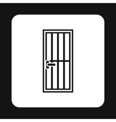 Lattice door icon simple style vector