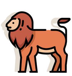 Lion linecolor vector