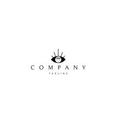 Logo with an abstract image an eye vector