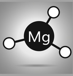 Magnesium icon mg molecule with round attoms vector