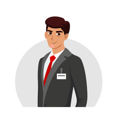 Man manager administrator consultant avatar vector