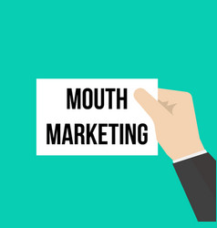 man showing paper word mouth marketing vector image
