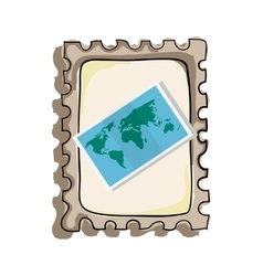 Map paper guide icon vector