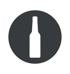 Monochrome round alcohol icon vector image